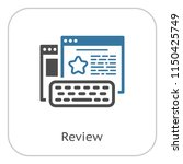 review line icon. client... | Shutterstock .eps vector #1150425749