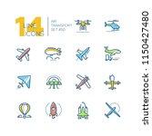 air transport   line design... | Shutterstock .eps vector #1150427480