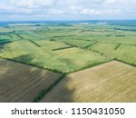 aerial view of the field with... | Shutterstock . vector #1150431050