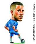 eden hazard is a belgian... | Shutterstock . vector #1150434629