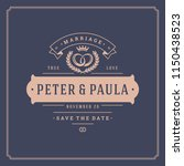 wedding invitation card design...   Shutterstock .eps vector #1150438523
