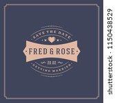 wedding invitation card design...   Shutterstock .eps vector #1150438529