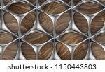 perforated solid matt silver... | Shutterstock . vector #1150443803