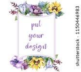 watercolor bouquet flowers.... | Shutterstock . vector #1150446983