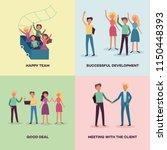 business scenes banners set... | Shutterstock .eps vector #1150448393