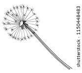 wildflower dandelion in a...   Shutterstock .eps vector #1150448483