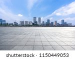 empty square with city skyline... | Shutterstock . vector #1150449053