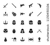 star wars glyph icons | Shutterstock .eps vector #1150450106