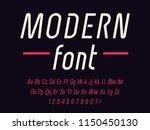 geometric modern techno font...   Shutterstock .eps vector #1150450130