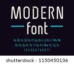 geometric technology font... | Shutterstock .eps vector #1150450136
