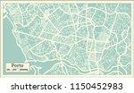 porto portugal city map in... | Shutterstock .eps vector #1150452983