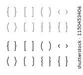 brackets flat line icons. brace ... | Shutterstock .eps vector #1150453406
