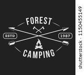 camping outdoor logo set....   Shutterstock .eps vector #1150455149