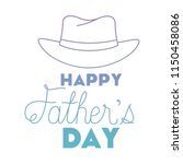 fathers day handmade font with... | Shutterstock .eps vector #1150458086