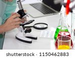 the scientist is using...   Shutterstock . vector #1150462883