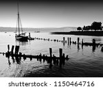 cloudy hazy day on the hudson...   Shutterstock . vector #1150464716