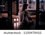 romance adult girl candles  ... | Shutterstock . vector #1150470410