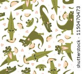 summer seamless pattern with... | Shutterstock .eps vector #1150470473