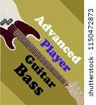 book cover guitar bass vector | Shutterstock .eps vector #1150472873