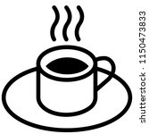 the icon shows a cup of coffee... | Shutterstock .eps vector #1150473833