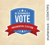 presidential election label.... | Shutterstock .eps vector #115047493