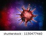 3d rendering virus bacteria... | Shutterstock . vector #1150477460