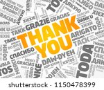 thank you word cloud background ...   Shutterstock .eps vector #1150478399