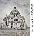 Basilica of St Mary of Health (Santa Maria della Salute, Venice Italy) - stock photo