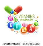 vitamin for healthy life poster.... | Shutterstock .eps vector #1150487600