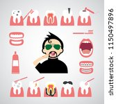 smile dental vector icon set  | Shutterstock .eps vector #1150497896