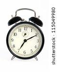 a classic old black alarm clock ... | Shutterstock . vector #115049980