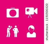 4 camera icons in vector set....   Shutterstock .eps vector #1150500320