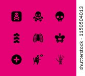 death icon. 9 death set with... | Shutterstock .eps vector #1150504013