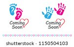 baby coming soon baby gender... | Shutterstock .eps vector #1150504103