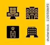4 sleep icons in vector set.... | Shutterstock .eps vector #1150508693