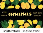 vector illustration of ananas... | Shutterstock .eps vector #1150515920