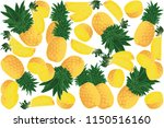 vector illustration of ananas... | Shutterstock .eps vector #1150516160