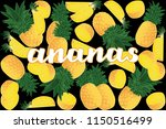 vector illustration of ananas... | Shutterstock .eps vector #1150516499