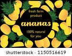 vector illustration of ananas... | Shutterstock .eps vector #1150516619