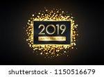 golden happy new year 2019 in... | Shutterstock .eps vector #1150516679