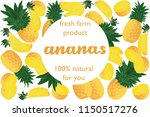 vector illustration of ananas... | Shutterstock .eps vector #1150517276