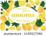 vector illustration of ananas... | Shutterstock .eps vector #1150517390