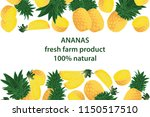 vector illustration of ananas... | Shutterstock .eps vector #1150517510