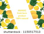vector illustration of ananas... | Shutterstock .eps vector #1150517513
