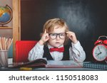 cute pupil from primary school...   Shutterstock . vector #1150518083