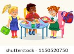 school lunch colorful poster | Shutterstock .eps vector #1150520750