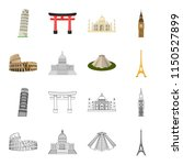 sights of different countries... | Shutterstock . vector #1150527899