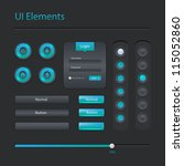 vector modern user interface... | Shutterstock .eps vector #115052860