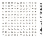machine learning icon set.... | Shutterstock .eps vector #1150537493