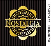 nostalgia golden emblem | Shutterstock .eps vector #1150539329